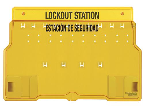 Bilingual Lockout Station, 10 Lock - Empty - Master Lock