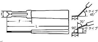 日本 OCHIAI  E型卡簧叉 ES-1.9