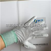 防静电碳纤维涂层手套(浸渍)  HWD-GLV81063