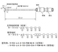 R-90S金屬插件鎧裝熱電阻RTD溫度探頭