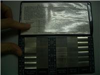 日本METALPLATING表面粗糙度比对片 表面粗糙度比对片