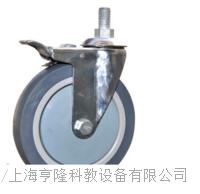Φ160立軸萬向全製動橡塑腳輪 19