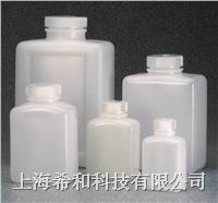 美國Nalgene 2009琥珀色矩形瓶,琥珀色高密度聚乙烯;琥珀色聚丙烯螺紋蓋 2009