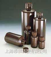 美國Nalgene 2004琥珀色窄口瓶,琥珀色高密度聚乙烯;琥珀色聚丙烯螺紋蓋 2004
