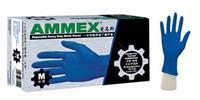 一次性耐用型藍色丁腈手套(無粉,麻麵,深藍色) APFNCHD