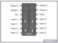 四電壓比較器LM339