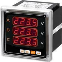 9方形智能三相電壓表