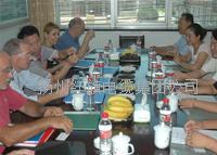 公司领导与意大利客商进行商务洽谈