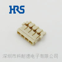 HRS連接器廣瀨1.2mm間距無鹵膠殼4芯housing原廠新款