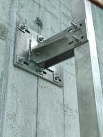 工程幕墙挂件拉丝面不锈钢方管挂件