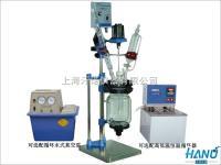 夾套玻璃反應釜/夾套玻璃反應器/小型雙層玻璃反應釜 1L-5L