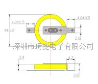 高品質激光焊CR1632電池帶焊腳 CR1632