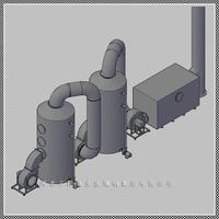 供应SBW型系列玻璃钢酸雾净化塔