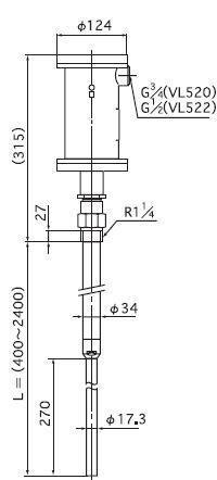 防爆型VL520N/VL520F振動物位檢測器NOHKEN