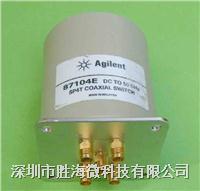 87104E Agilent  87104E 24V/SP4T DC-50GHz 2.4mm 接頭單刀四擲射頻微波毫米波同軸開關   87104E