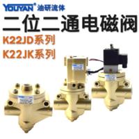 氣控電磁截止式換向閥 K22JD-8W (G1/4)新款型, K22JD-10W (G3/8)新款型, K22JD-15W
