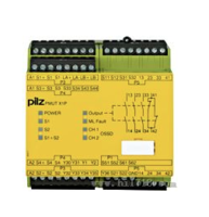 耐用款PILZ的安全继电器接线并使用 PNOZ S4 - 750104