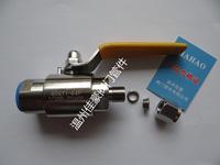 QG.QY1-16/25/32/40/64P G1/2-FT8 304SS不銹鋼雙卡套式直通氣路氣源球閥