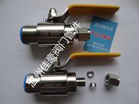 精品QG.QY1-16/25/64P PN63 G1/2-¢8 304SS不銹鋼雙卡套式/銅脹圈卡套式氣源球閥
