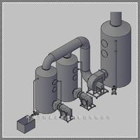 销售DGS型无泵玻璃钢酸雾净化塔